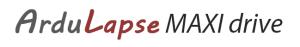 ArduLapse-logo_MAXI-Drive, TimeLapse camera slider & dolly , časozberné vídeo Slider